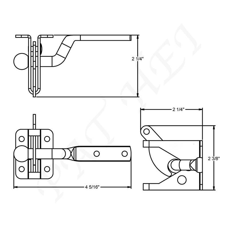 Decorative Unique Design with Floating Bar Standard Gravity Latch
