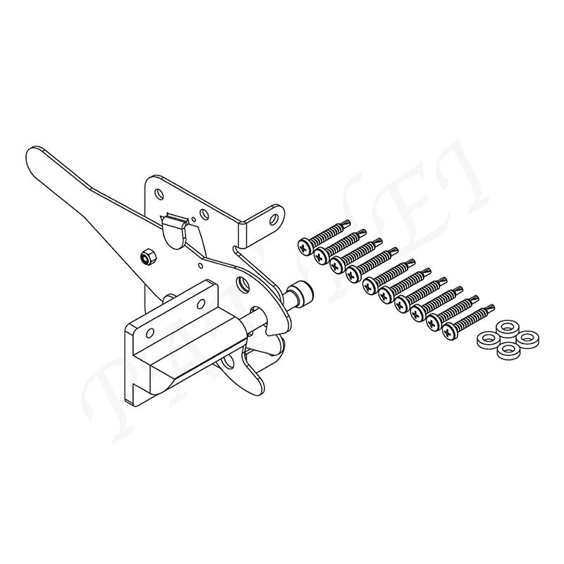 Pat Hei Gate Hardware-Find Gravity Gate Latch Europe Style Self Locking Automatic Gravity Lever