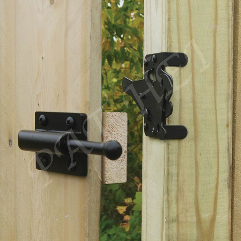 Pat Hei Gate Hardware-Europe Style Self Locking Automatic Gravity Lever Fence Gate-1