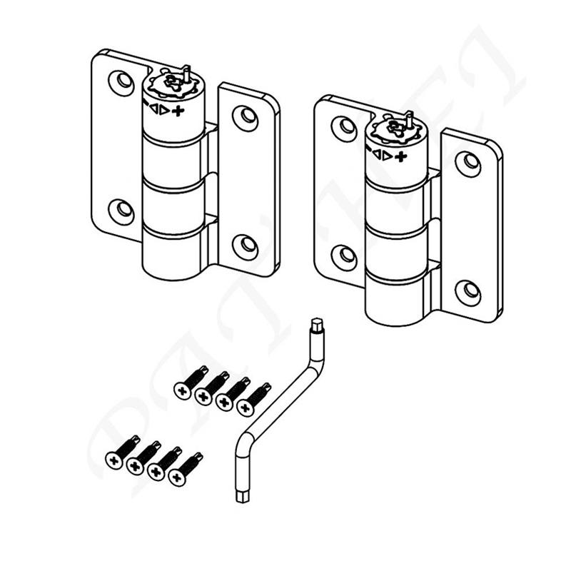 Aluminum Compact Butterfly Hinge Small Size Butterfly Hinge