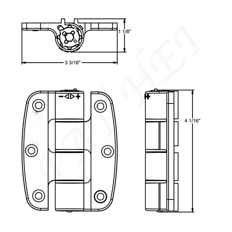 Pat Hei Gate Hardware-Professional Black Hinges Spring Loaded Door Hinge Supplier-1