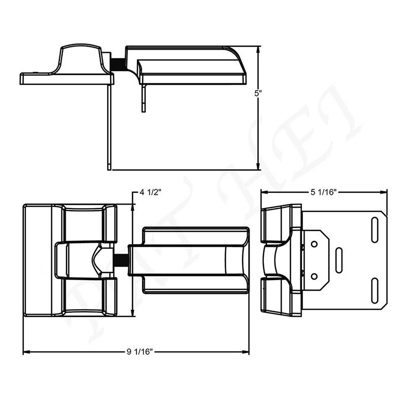 Heavy Duty Wrap Hinge Outdoor Hinge Galvanized Butterfly Hinge