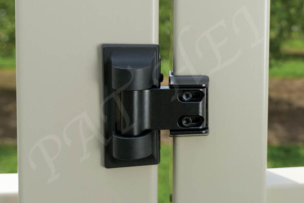 Pat Hei Gate Hardware-Standard Wrap Hinge With Uv Pp Latch | Wrap Hinge