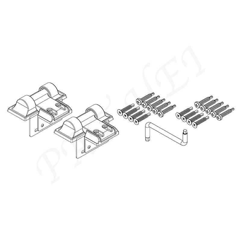 Pat Hei Gate Hardware-Standard Wrap Hinge With Uv Pp Latch | Wrap Hinge-2