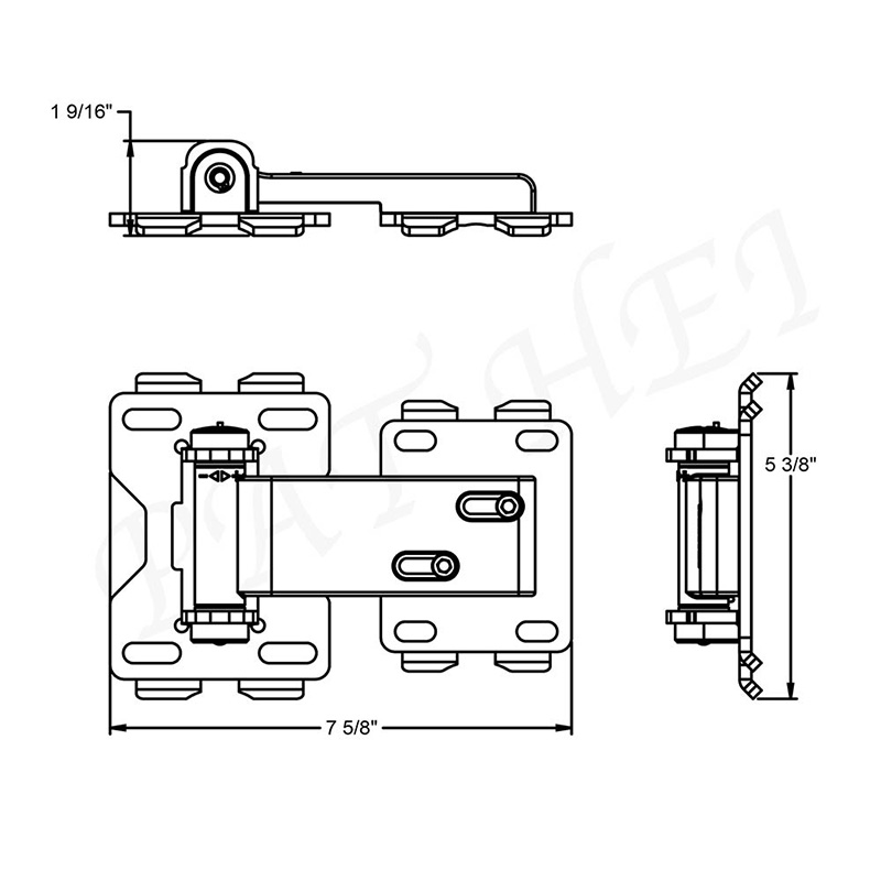 Pat Hei Gate Hardware-Best Farm Hinge Standard Chainfarm Hinge Dacromet 85um Powdered Hinge-1
