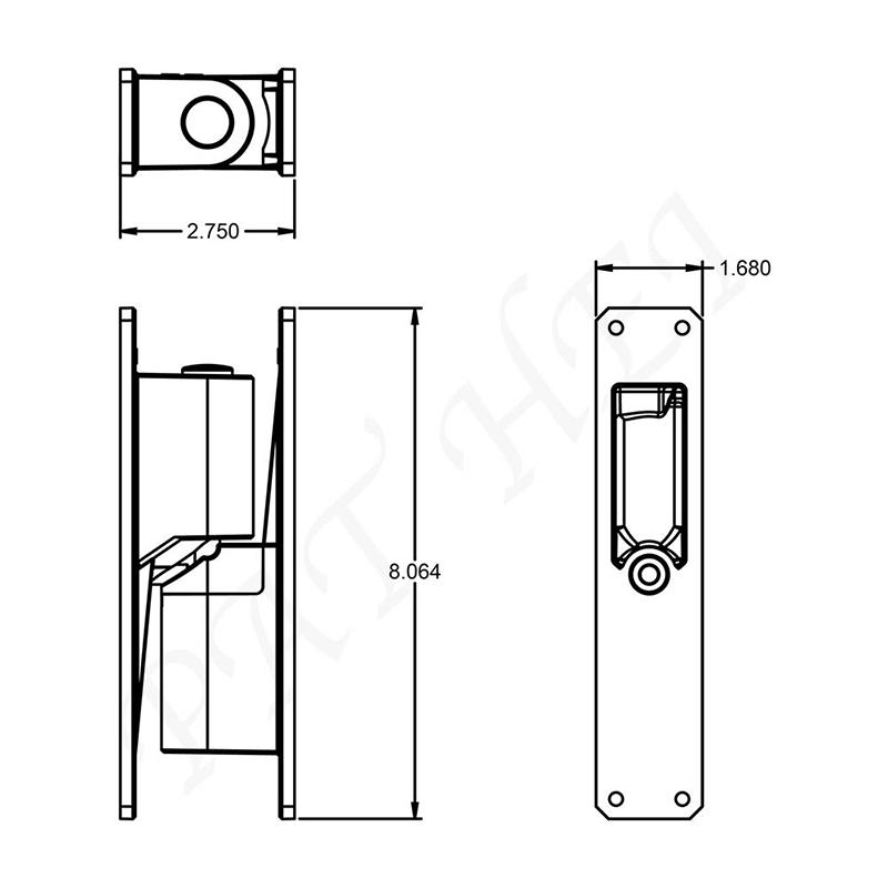 Aluminum Heavy Duty Center Mount Hinge