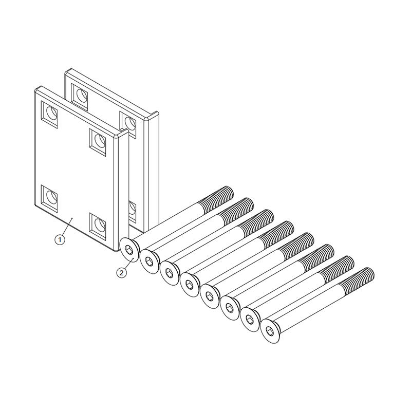 Estate Gate Back Plate Kit