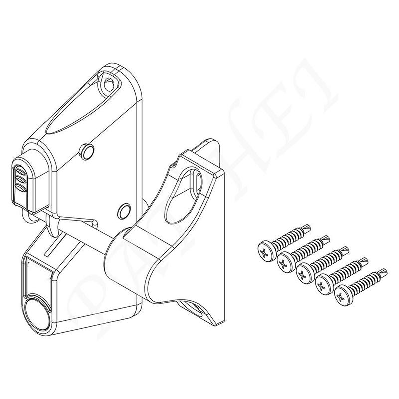 Decorative Plasctic Gravity Latch without Key Entry-3