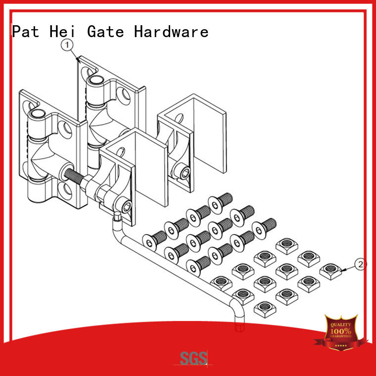selfclosing duty aluminum gate hinges customized Pat Hei Gate Hardware