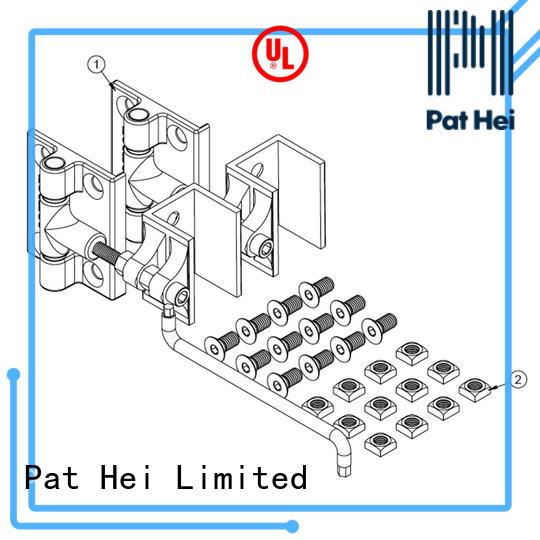 Pat Hei Gate Hardware simple design aluminum gate hinges bulk purchase for garden