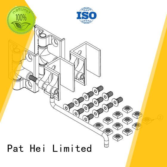 Pat Hei Gate Hardware Brand heavy customized aluminum gate hinges manufacture