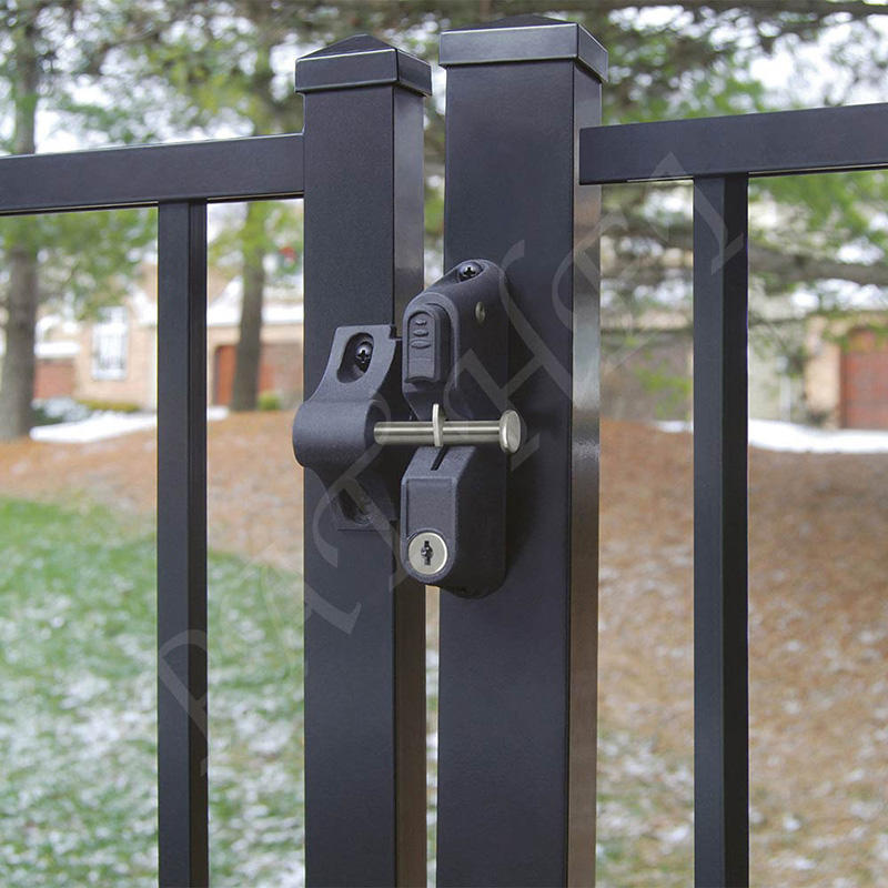 Pat Hei Gate Hardware-Double Gate Latch Locking Gravity Latch With Dual Lock Key Entry Push Button-2