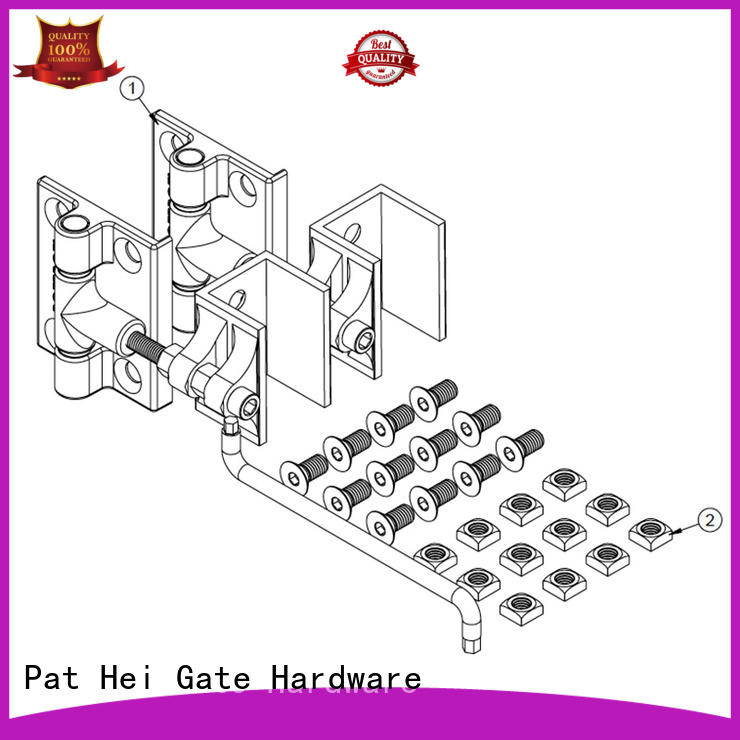 customized aluminum gate hinges heavy selfclosing Pat Hei Gate Hardware company