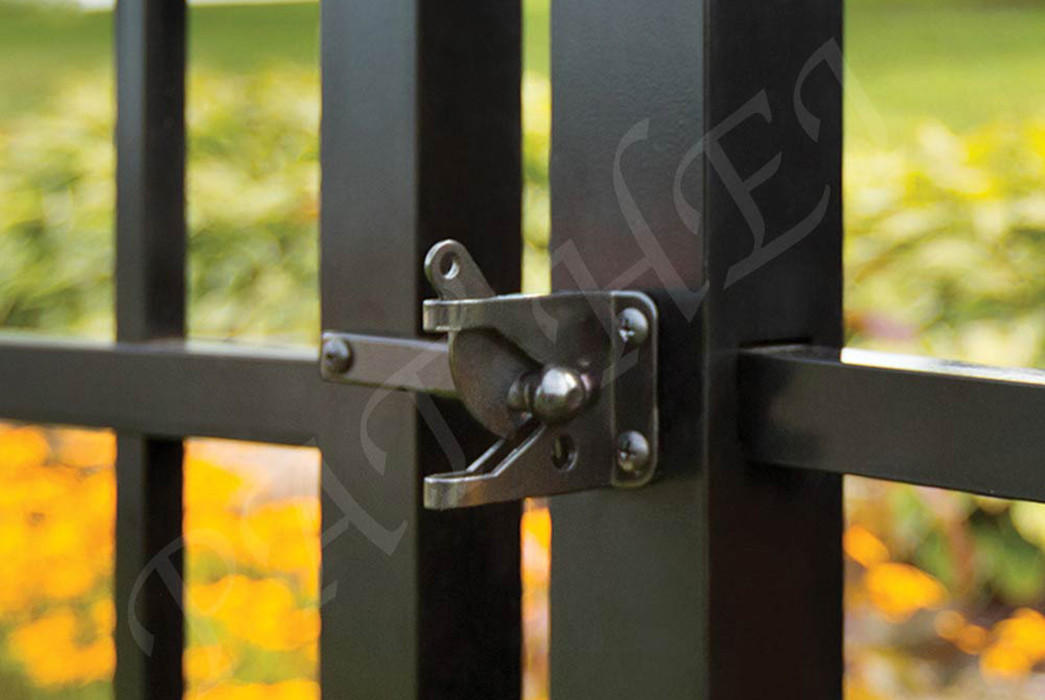 Pat Hei Gate Hardware-Decorative Unique Design With Floating Bar Standard Gravity Latch | Door