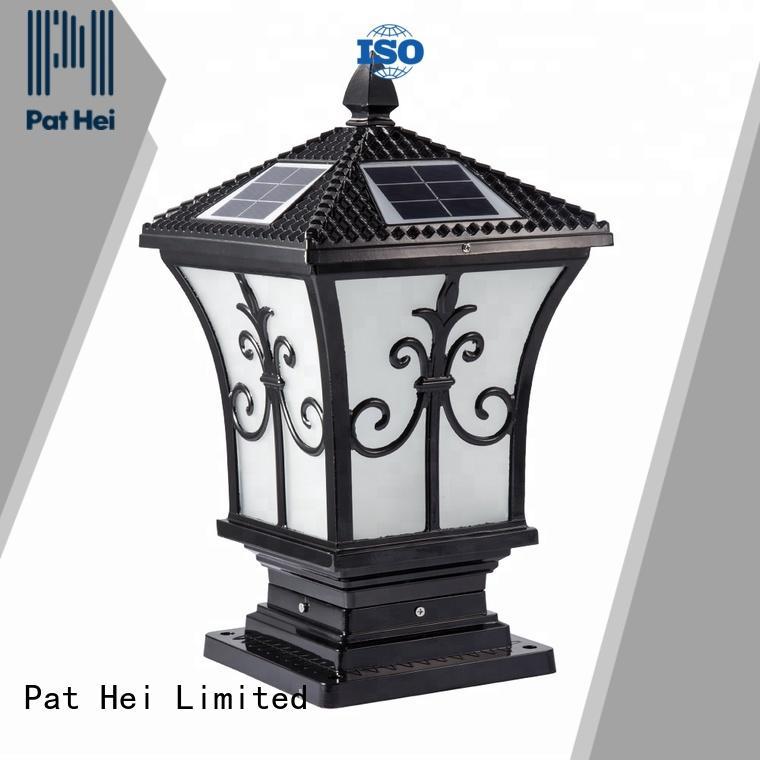 classic solar gate pillar lights aluminum trade partner for garden