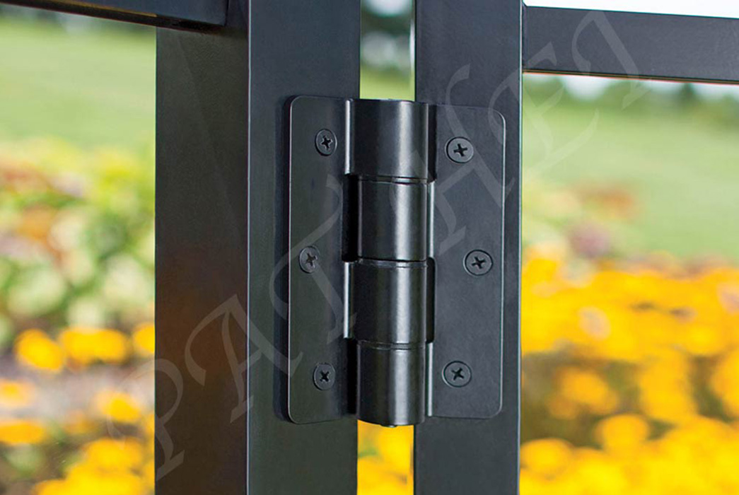 Pat Hei Gate Hardware-Best Aluminum Adjustable Self-closing Gate Hinge Black Hinges