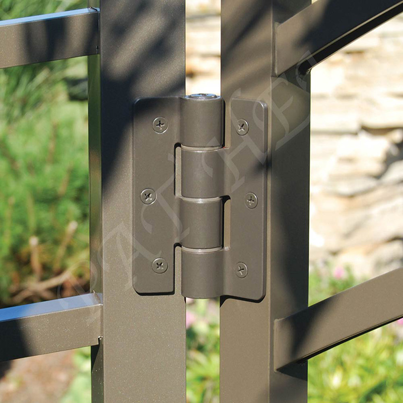 Pat Hei Gate Hardware-Best Aluminum Adjustable Self-closing Gate Hinge Black Hinges-1