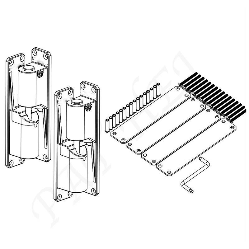 Pat Hei Gate Hardware high strength 180 degree door hinge wholesale for closet drawer