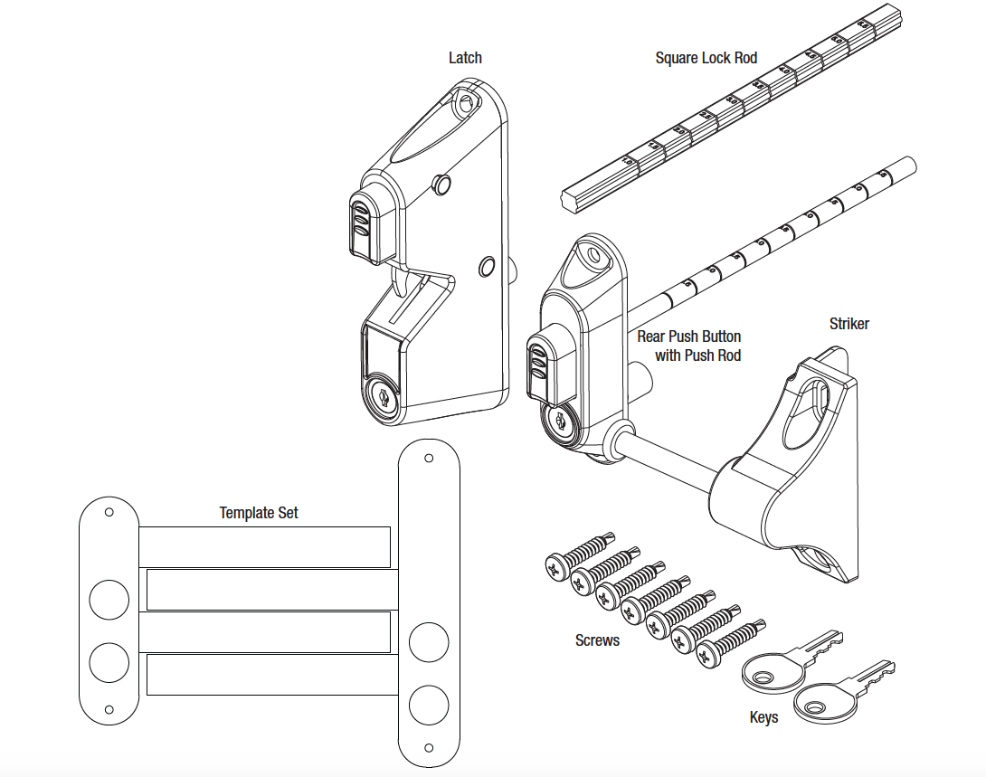 Pat Hei Gate Hardware-Find Two Way Gate Latch door Latch On Pat Hei Gate Hardware-2