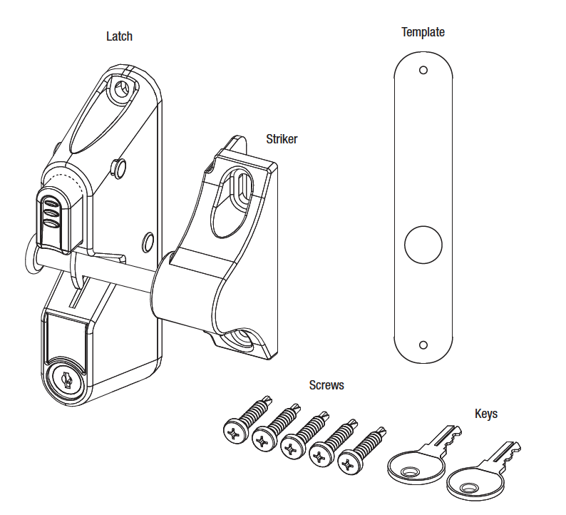 Pat Hei Gate Hardware OEM ODM metal latch supplier for door