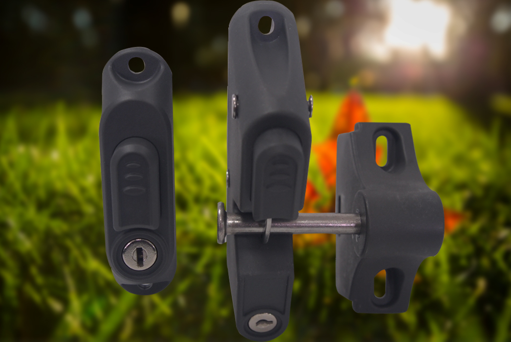 Pat Hei Gate Hardware-Best Door Latch Locking Gravity Latch With 2-sided Key Entry Push Button