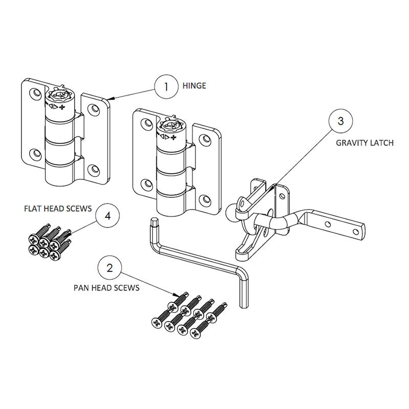 Compact Butterfly Hinge