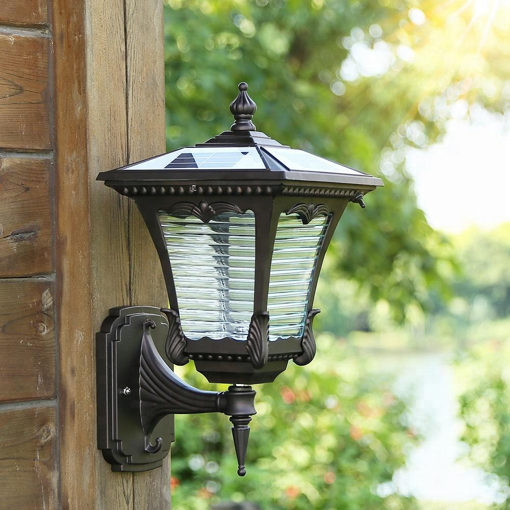Aluminum Wireless IP55 Waterproof Led Outdoor Solar Powered Wall Light