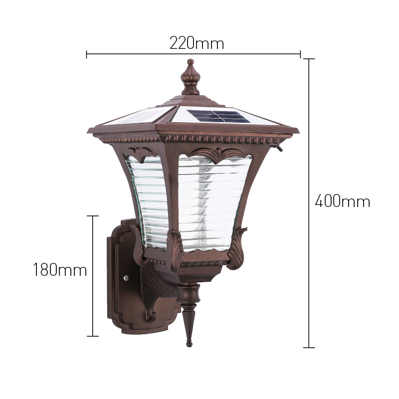 Pat Hei Gate Hardware-| Aluminum Wireless Ip55 Waterproof Led Outdoor Solar Powered Wall Light