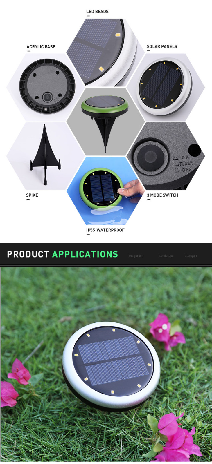 durable lawn lights fast shipping with silicone cover-2