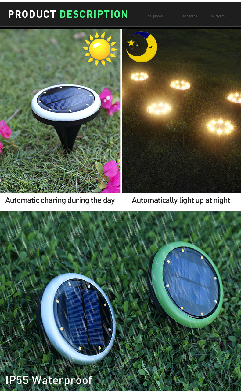 durable lawn lights fast shipping with silicone cover-3