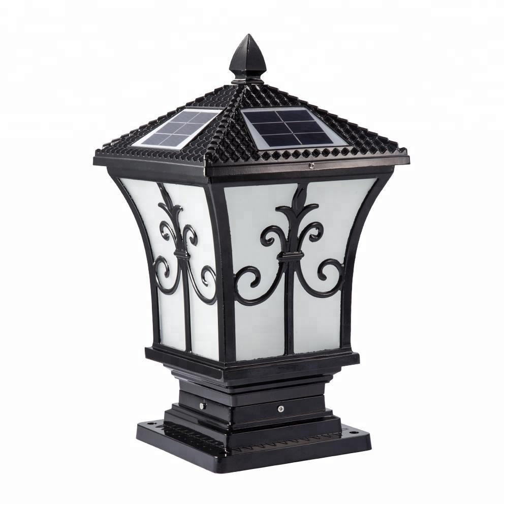 Outdoor Aluminum Led Solar Pillar Light