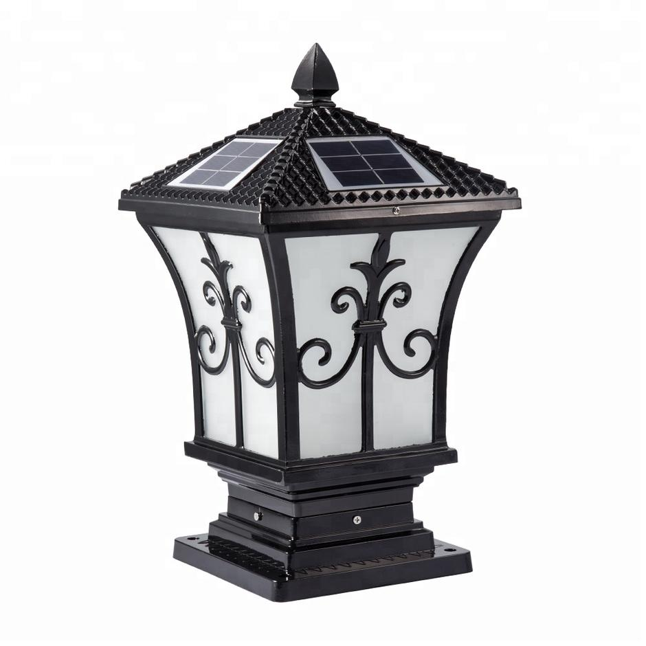 Outdoor Aluminum Led Solar Pillar Light