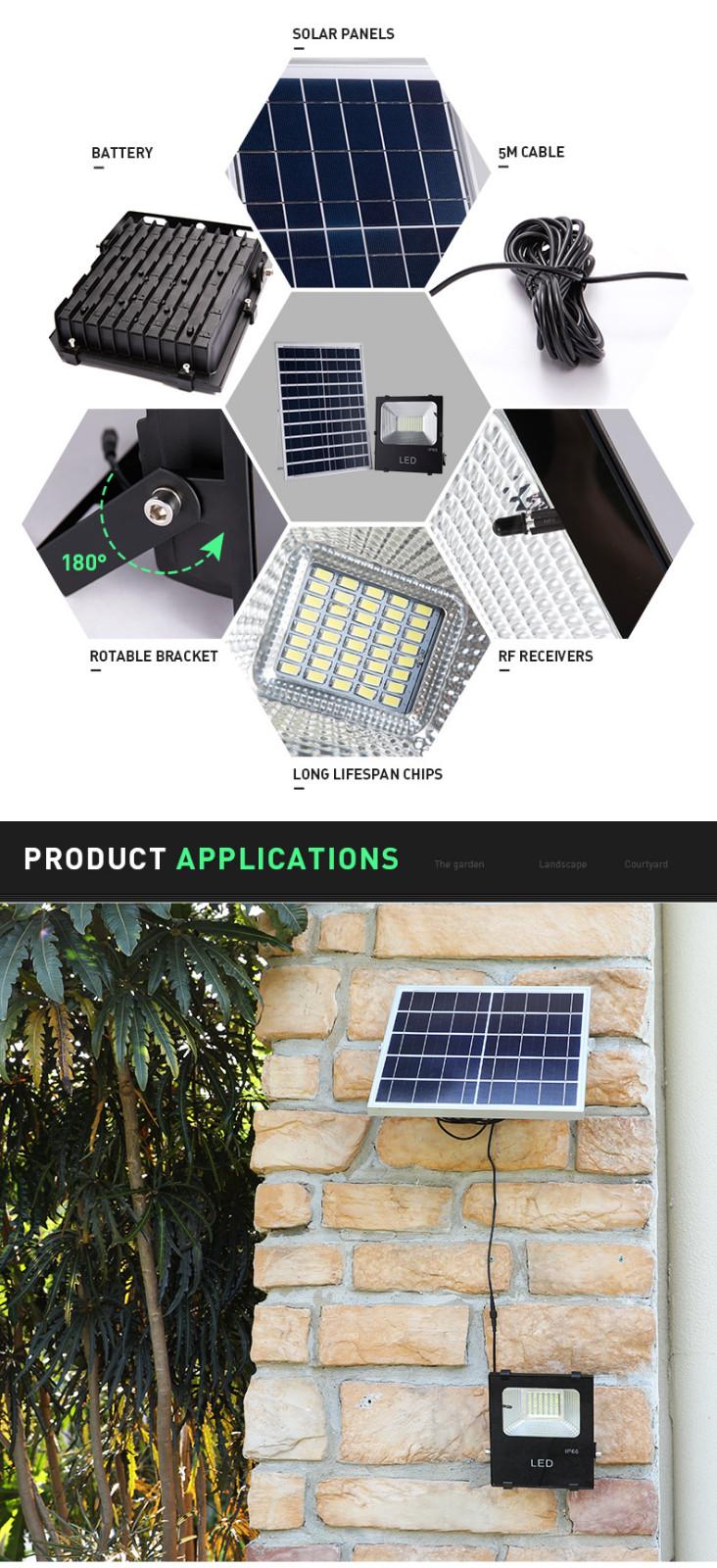 Pat Hei Gate Hardware-High Lumen Ip65 Waterproof Garden Security Solar Flood Light-pat Hei Gate-2