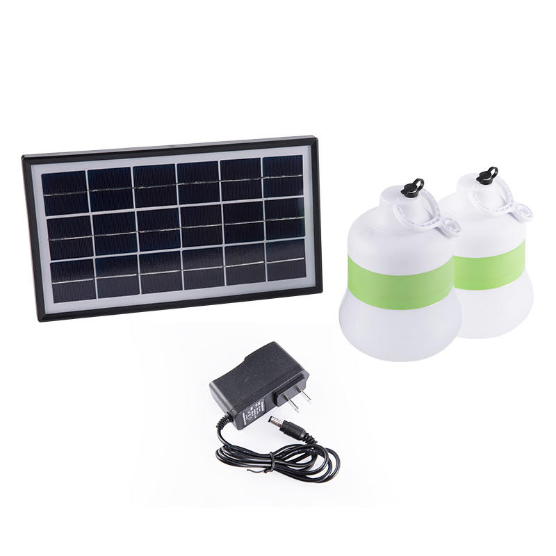 150LM 1600mAh Solar Bulb Lights with AC Power