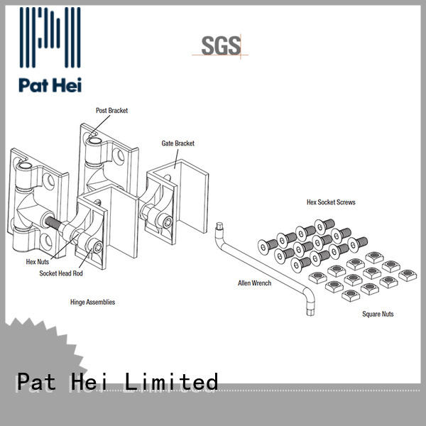 metal gate hinges light weight for sale Pat Hei Gate Hardware
