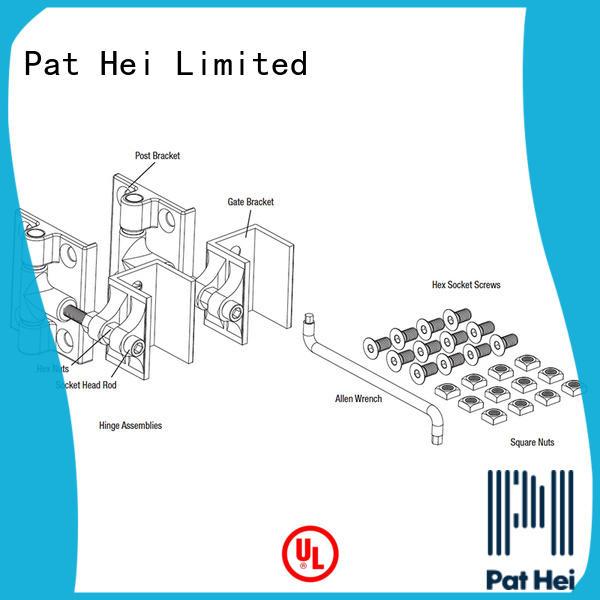 Pat Hei Gate Hardware enhanced durability aluminum hinges exporter for garden