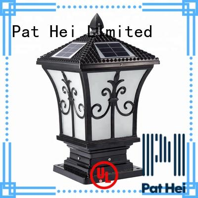 Pat Hei Gate Hardware hot selling solar pillar lights outdoor exporter for yard