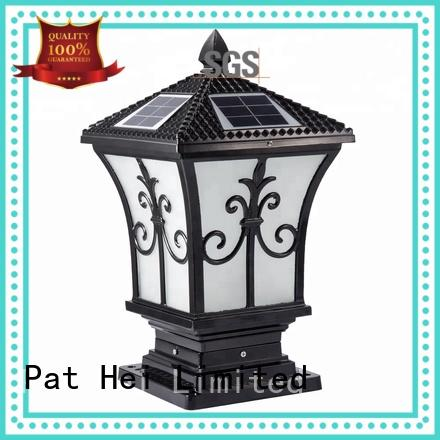 Pat Hei Gate Hardware bollard outdoor solar lamp flood sale