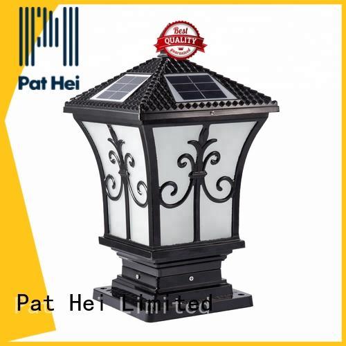 Pat Hei Gate Hardware classic solar gate pillar lights awarded supplier for sale