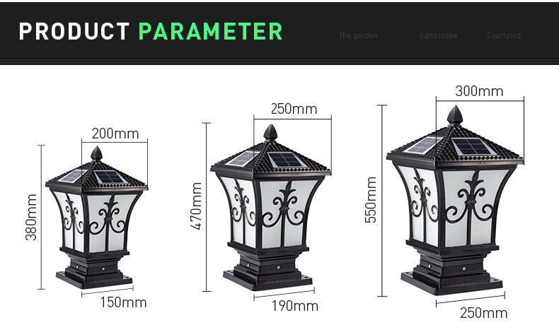 Pat Hei Gate Hardware-Find Outdoor Aluminum Led Solar Pillar Light | Manufacture