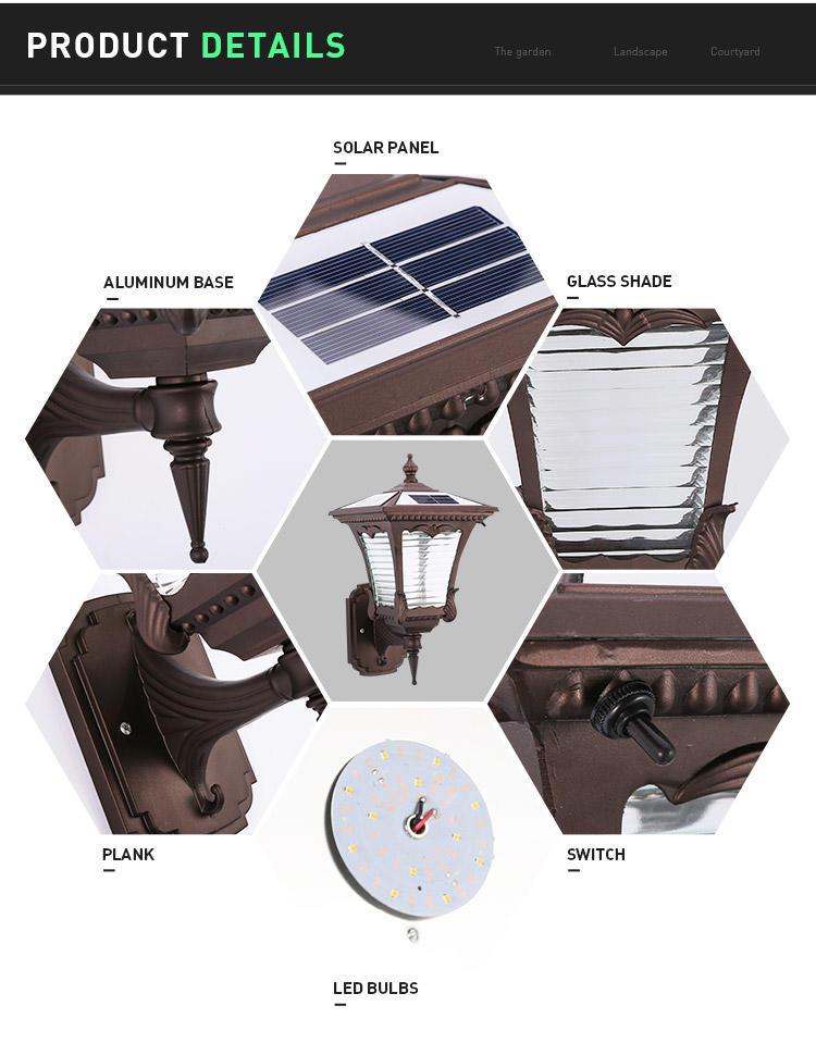 solar powered wall light waterproof supplier for sale-2