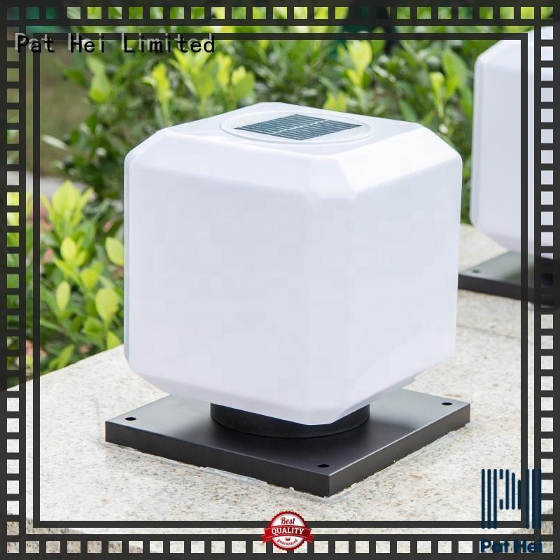 Pat Hei Gate Hardware new design Solar Pillar Light exporter for yard