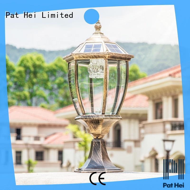 Pat Hei Gate Hardware hot selling solar pillar lights outdoor trade partner for yard
