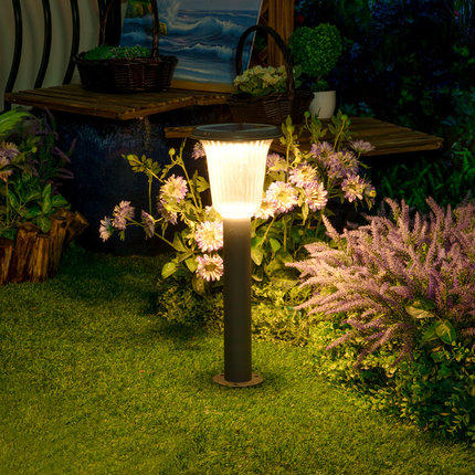 Aluminum Wireless IP55 Waterproof Led Outdoor Solar Powered Lawn Light