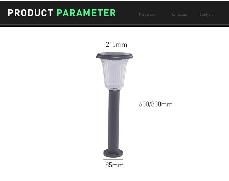 Pat Hei Gate Hardware-Aluminum Wireless Ip55 Waterproof Led Outdoor Solar Powered Lawn Light-pat-1