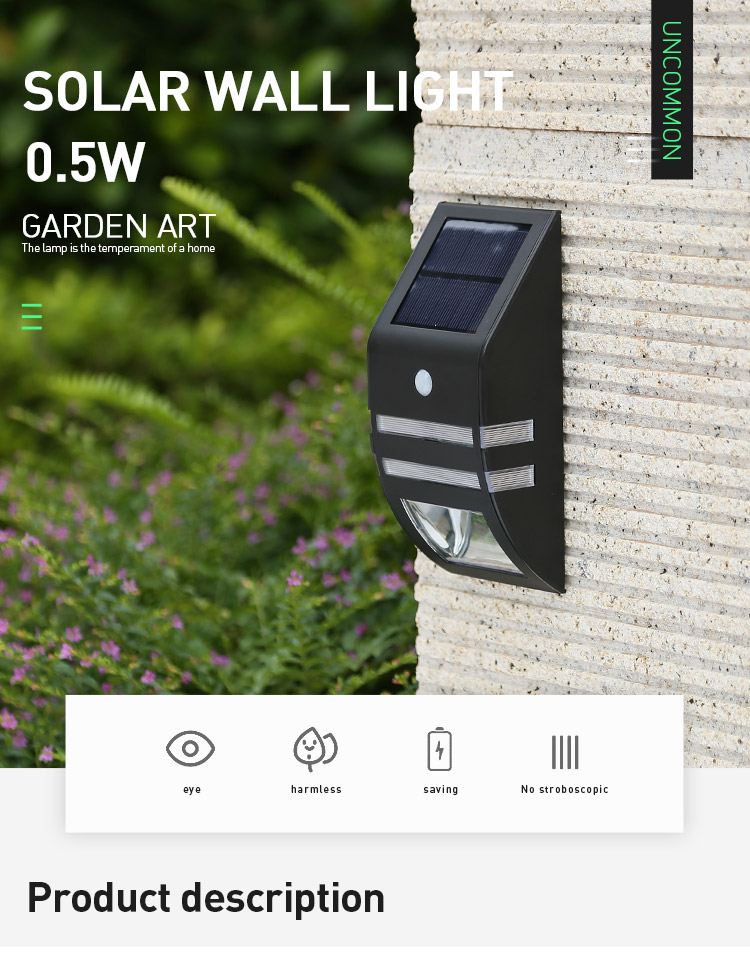 Pat Hei Gate Hardware-Stainless Steel Ip65 Waterproof Led Outdoor Solar Motion Sensor Light-pat-1