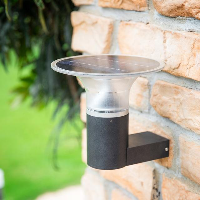 Aluminum Wireless IP55 Waterproof  Outdoor Solar Led Wall Light