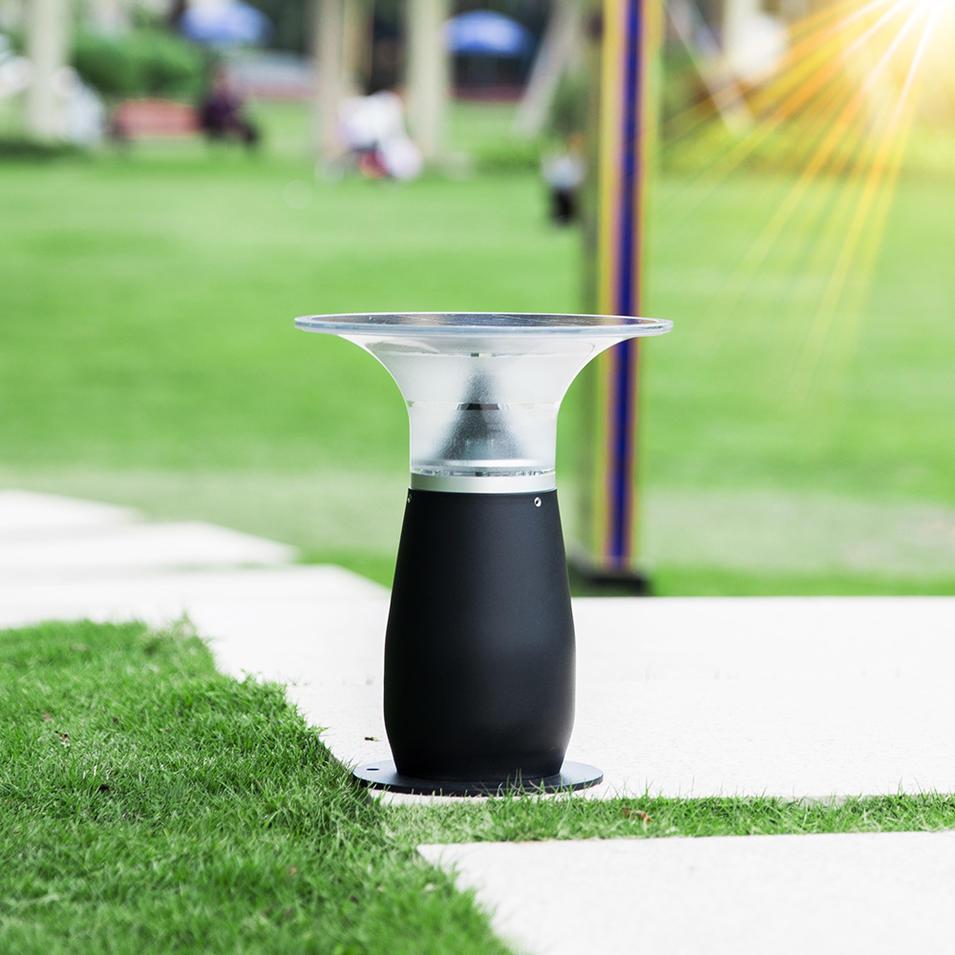 IP55 Waterproof Aluminum Wireless Outdoor Solar Bollard Light