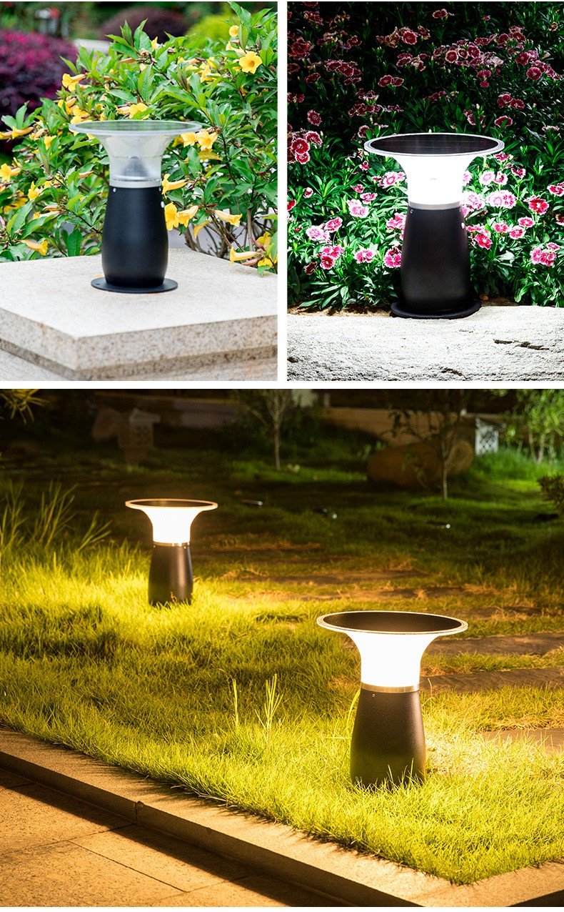 IP55 Waterproof Aluminum Wireless Outdoor Solar Bollard Light-4