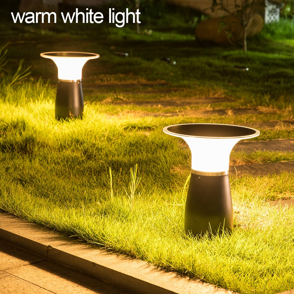IP55 Waterproof Aluminum Wireless Outdoor Solar Bollard Light-8